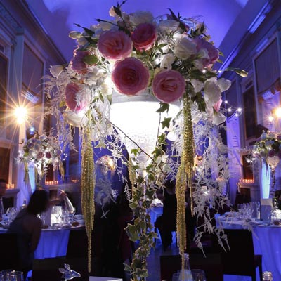 Decoration salle mariage glamour chic